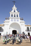 Pèlerins en EL Rocio, Andalousie, Espagne Photo stock