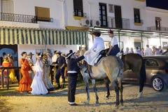 Pèlerins en EL Rocio, Espagne Photo libre de droits