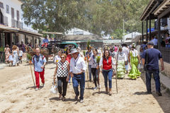 Pèlerins en EL Rocio pendant le Romeria 2017, Espagne Photos stock