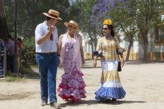 Pèlerins en EL Rocio pendant le Romeria 2017, Espagne Photo libre de droits