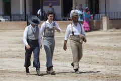 Pèlerins en EL Rocio pendant le Romeria 2017, Espagne Photo stock