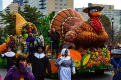 Pèlerins et défilé de thanksgiving de Philly de flotteur de la Turquie Image libre de droits