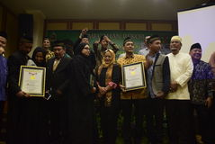 Pèlerins record d'Umrah à Mecque Photographie stock