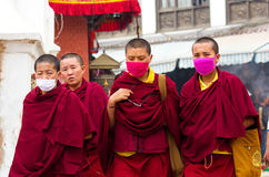 Pèlerins tibétains au Népal Photo stock