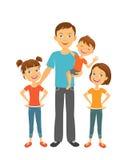 Père avec des enfants Papa et enfants Jour de pères Photo stock