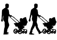 Père avec l'enfant Images libres de droits
