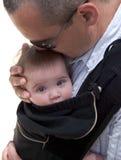 Père avec la chéri photographie stock