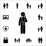 père avec la fille sur l'icône de mains Ensemble détaillé d'icônes de famille Signe de la meilleure qualité de conception graphiq illustration de vecteur