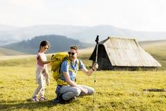Père avec la hausse de fille Photo libre de droits