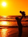 Père avec la petite chéri Photo libre de droits