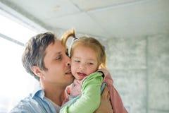 Père avec la petite fille Images stock