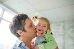Père avec la petite fille Photo stock