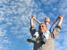 Père avec le fils Images libres de droits