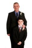 Père avec le fils dans les procès Photos stock