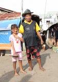 Père avec sa petite-fille Photos stock