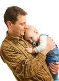 Père avec son enfant Photographie stock