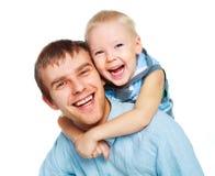 Père avec son petit fils Images libres de droits