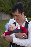 Père avec un fils Photographie stock