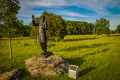 Père Corby Statue sur le champ de bataille image libre de droits
