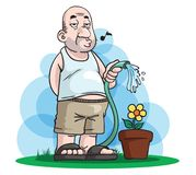 Père Day Gardening illustration stock