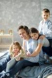 Père de trois enfants Image libre de droits