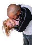 Père embrassant le descendant Image libre de droits