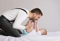 Père et bébé photos libres de droits
