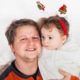 Père et bébé Photos stock