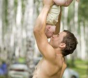 Père et chéri Photo stock