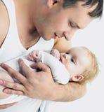 Père et chéri Image stock