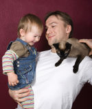 Père et descendant Photographie stock libre de droits