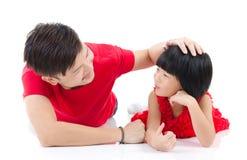 Père et descendant asiatiques Photo stock