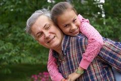 Père et descendant gais Photos libres de droits
