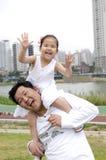 Père et descendant heureux Image libre de droits