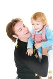 Père et descendant heureux Photo stock