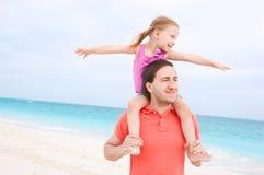 Père et descendant heureux Photo libre de droits