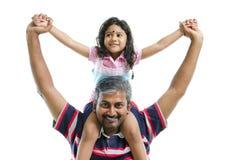 Père et descendant indiens Image libre de droits