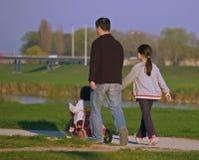 Père et deux Dothers Images libres de droits