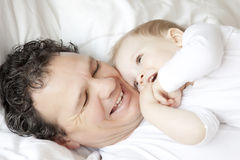 Père et enfant images libres de droits