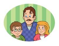 Père et enfants illustration de vecteur