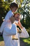 Père et fille photo stock