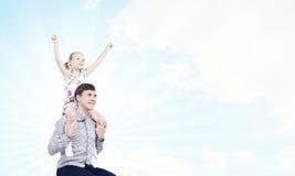 Père et fille Photos stock