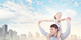 Père et fille Images libres de droits