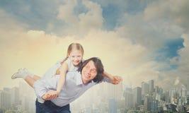 Père et fille Images stock