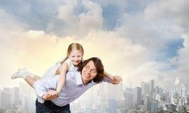 Père et fille Photographie stock