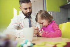 Père et fille Photographie stock libre de droits