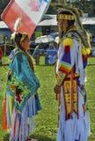 Père et fille de Micmac de natif américain Photo libre de droits