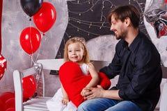 Père et fille vacances Photo stock