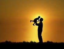 Père et fils 1 Photo libre de droits