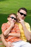 Père et fils Photographie stock libre de droits
